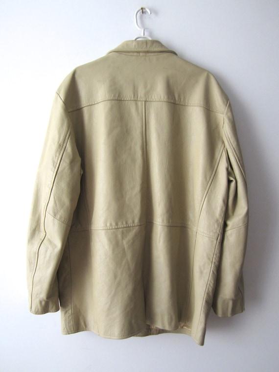 Echtes Herren Oberbekleidung Große Trenchcoat Vintage Beige Größe Hipster Grunge Kurz Leder Jacke Mantel sBhoCtQrdx