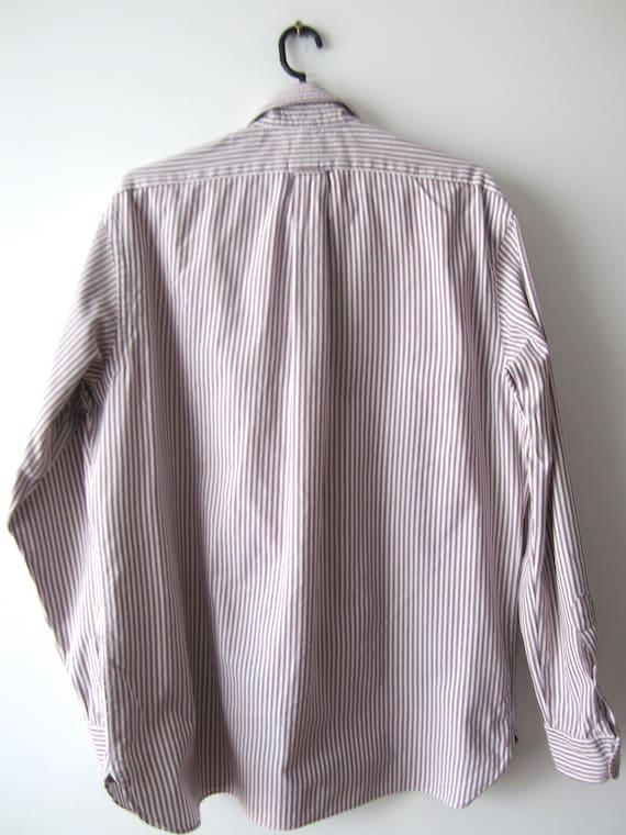 ... Ralph Lauren chemise rayé bouton Mens chemise manches longues longues  manches chemise robe chemise coton Chemise ... ea36ff999aa2