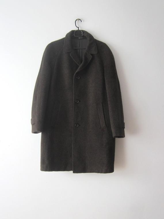 Vintage Businessman Coat Wool blend Mohair Coat Me