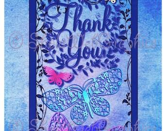 Thank You A4 Sheet (PU,S4H) Scrapbook