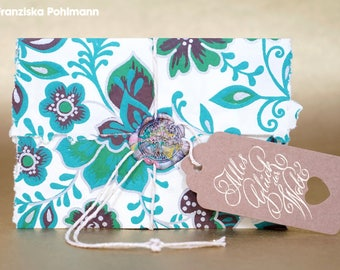 Medium Coupon-All happiness (floral print, tree)