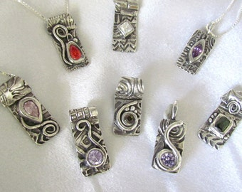 "Item 6085 - ""Bling On Collection"" Made to Order Custom Handcrafted 999 Fine Silver Set with Your choice of CZ"
