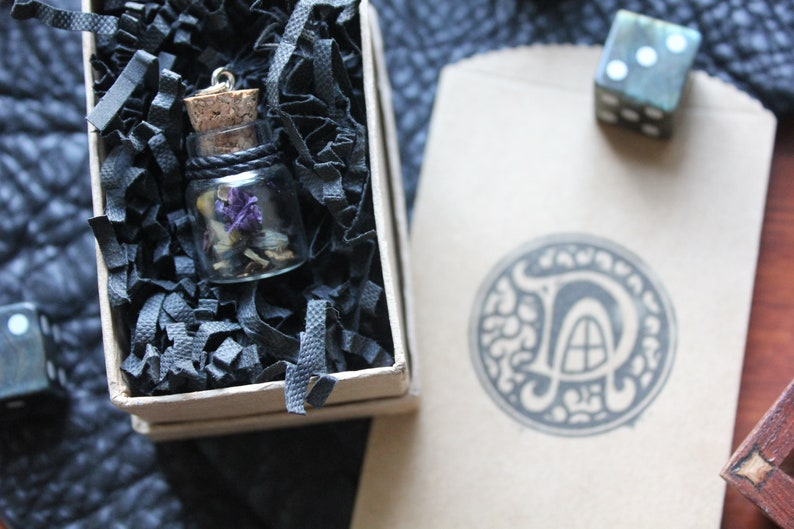 Hallow [5E DnD-Inspired Spell Material Component Bottle Necklaces]