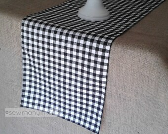 Attrayant Black Plaid Table Runner Gingham Check Runner Country Farmhouse Kitchen  Decor Table Centerpiece Dining Room Table Linens Plaid Decor