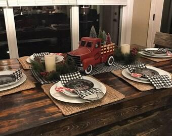 Magnificent Black Buffalo Check Napkins Black Plaid Napkin Set Farmhouse Ibusinesslaw Wood Chair Design Ideas Ibusinesslaworg