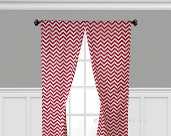 Rote Vorhänge Chevron Streifen Vorhang Platten Fenster Behandlungen  Benutzerdefinierte Vorhänge Küche Wohnzimmer Dekor Rote Gardinen
