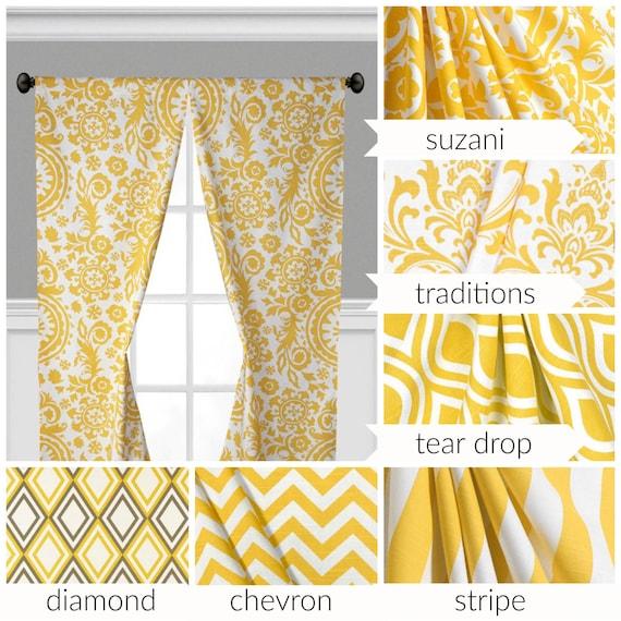 Gelbe Vorhänge Fenster Behandlungen Gelben Vorhang Panels | Etsy