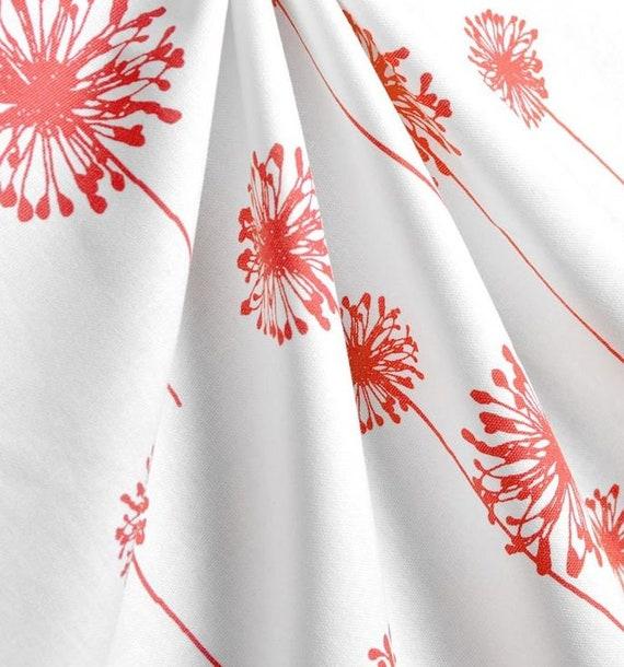 Coral Curtains Window Treatments Dandelion Floral Curtain Panels Nursery  Decor Girls Bedroom Curtains Custom Panels Drapery Girl Drapes