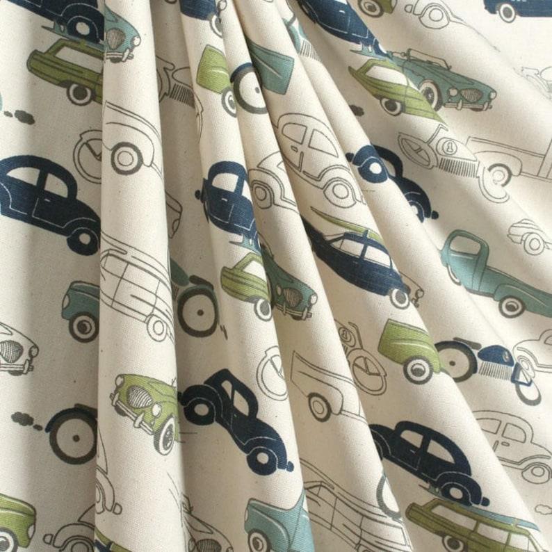 Retro Vintage Car Curtains Window Treatments Nursery Children\'s Boys  Bedroom Curtain Panels Valance Auto Mechanic Decor Drapes