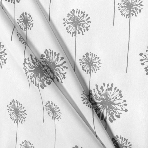 Gray Curtains Fl Dandelion Window, Dandelion Print Curtains