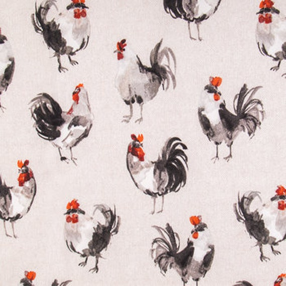 Farmhouse Decor Curtains Rooster Bird Curtain Panels Kitchen Cottage Rustic  Curtains Window Treatments Red Black Custom Drapes Cafe