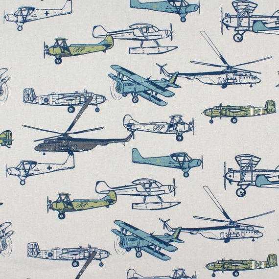 Airplane Curtains Children S Bedroom Curtain Panels Etsy