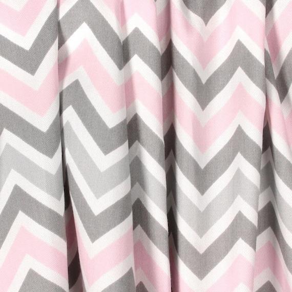 Lichte Baby roze grijze gordijnen kinderkamer gordijn panelen | Etsy
