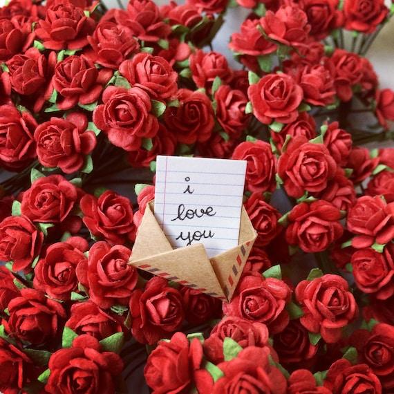 Bouquet Of Roses cute bouquet of roses miniature/ unique valentine's day | etsy