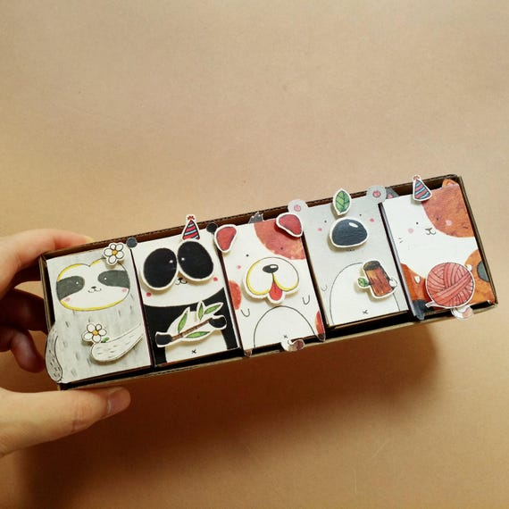 5 DIY Birthday Matchbox-Set/ Funny Birthday Card/ DIY