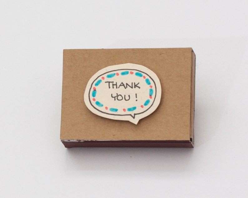 Thank you Card You/'re so sweet Matchbox  Gretting Card  Gift box  Message box LV035