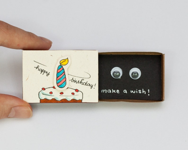 Funny Birthday Card Matchbox Gift Box Make A