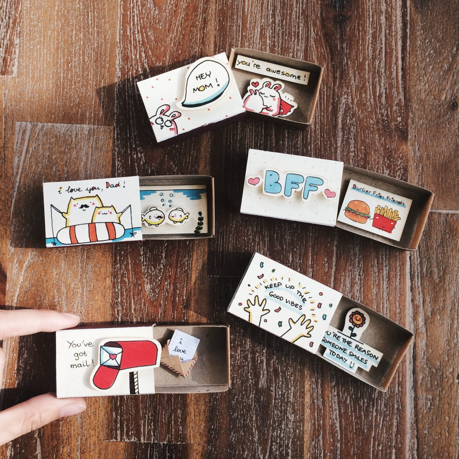 ALL Occasion Matchbox Card Set Of 5 Cards For Everyone