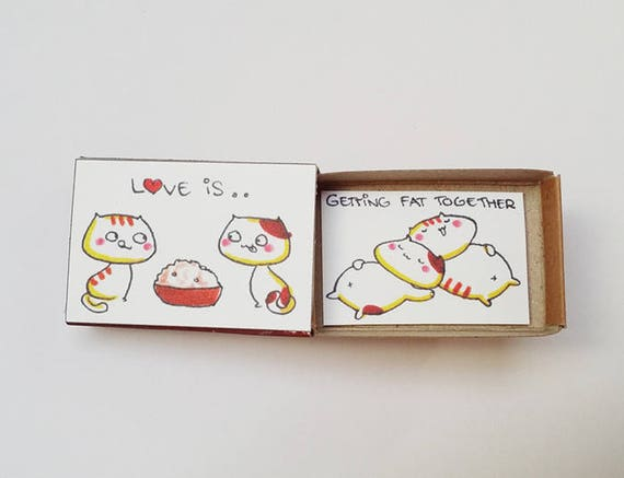 Witty Valentine S Card Funny Love Card Cute Matchbox Etsy