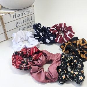 Big Hair Ties Tartan Silk Scrunchies Statement Scrunchies Big Scrunchies Oversized Scrunchies Stocking Stuffers