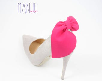 Pink bows- shoe clips Manuu, wedding shoe clips, shoe accessories, women shoes, bridal shoes