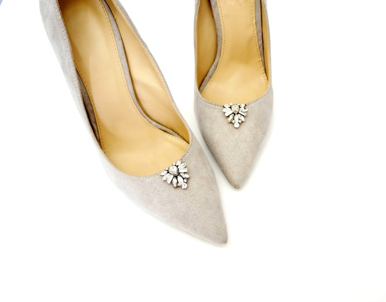 02412bf0061de Gold crystal shoe clips - shoe clips Manuu, rhinestone embellishments, shoe  accessories with rhinestones and zircons