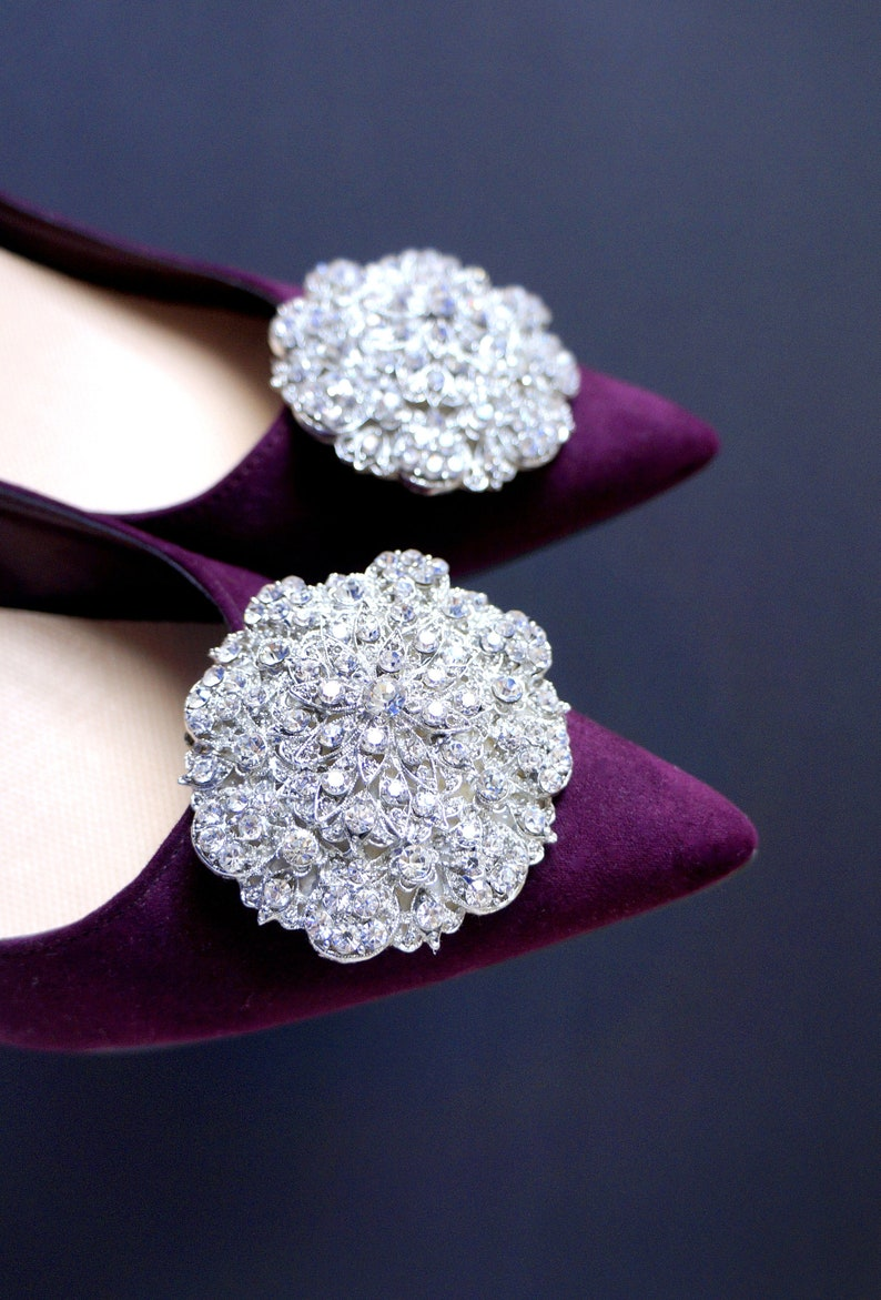 5424dc7eb83f6 Shoe jewelry with zircons - shoe clips Manuu, Wedding shoe clips, Bridal  shoe clips, bridal flats, shoe clips pumps