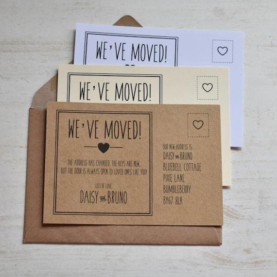 10 Personnalisé//Nouvelle maison nous avons déménagé//modifier l/'adresse de cartes avec enveloppes