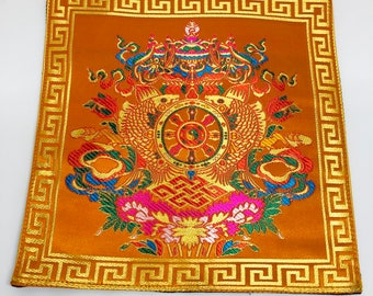 Two Fabric Attachments to Ritual Objects Nepal Tibet Ethnic Folk Textile Art Asia FREE SHIPPING