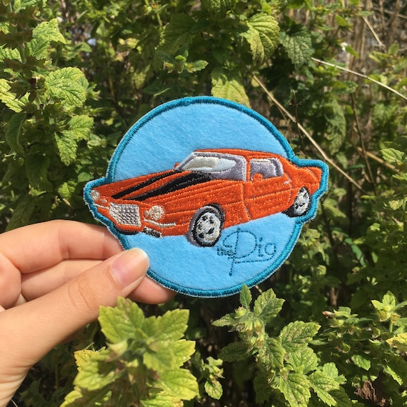 Embroidered Patch: Gansey's 1973 Orange Camero, The Pig ( Raven Cycle ) by Etsy