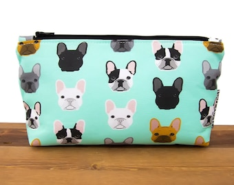 French Bulldog Makeup Bag   Frenchie Cosmetic Bag   French Bulldog Gifts   Makeup Organizer   Make Up Bag   Dog Lover Gift   Frenchie  #48