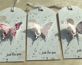 Butterfly Gift tags, Butterfly tags, Favor tags, Party Favor tags, Butterflies, Butterfly Thank You tags, Baby Shower,