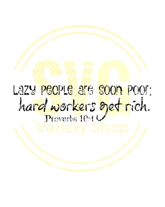Spreuken luie mensen rijke mensen slechte mensen harde | Etsy