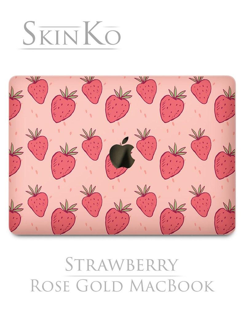 ef552e20e94 Strawberry stickers 2018 Macbook pro 15 skin MacBook air Fruit
