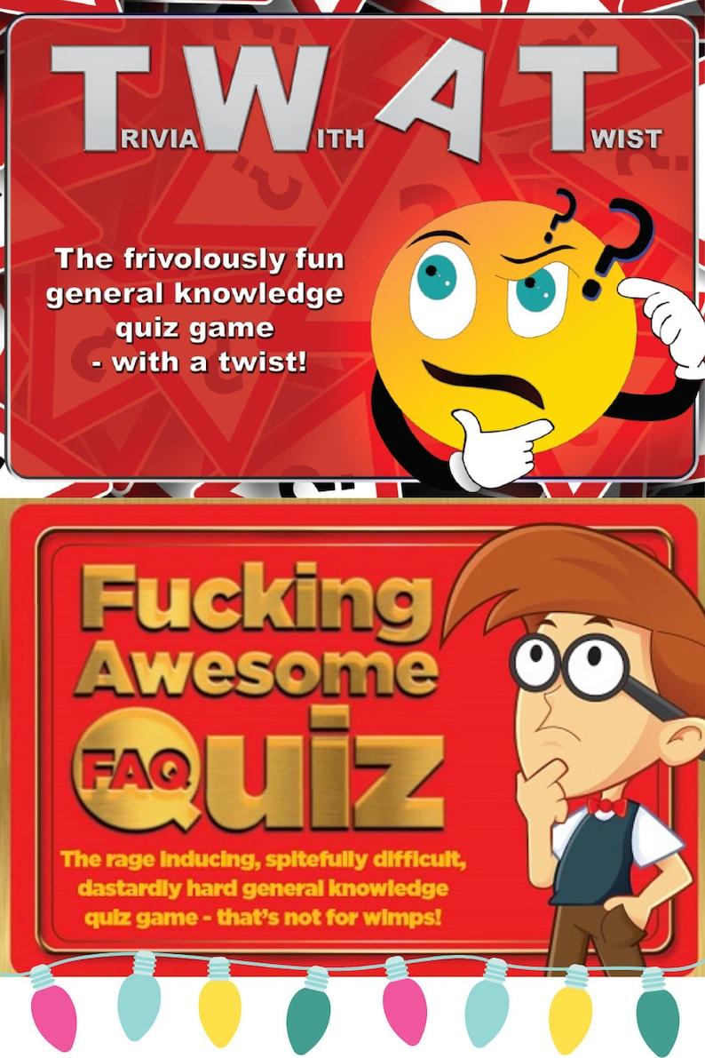 TWAT Trivia With A Twist Spiel FAQ Das Ficken | Etsy