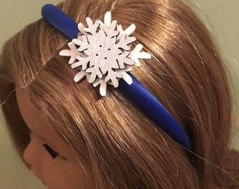 Snowflake Headband for 18 Inch Doll