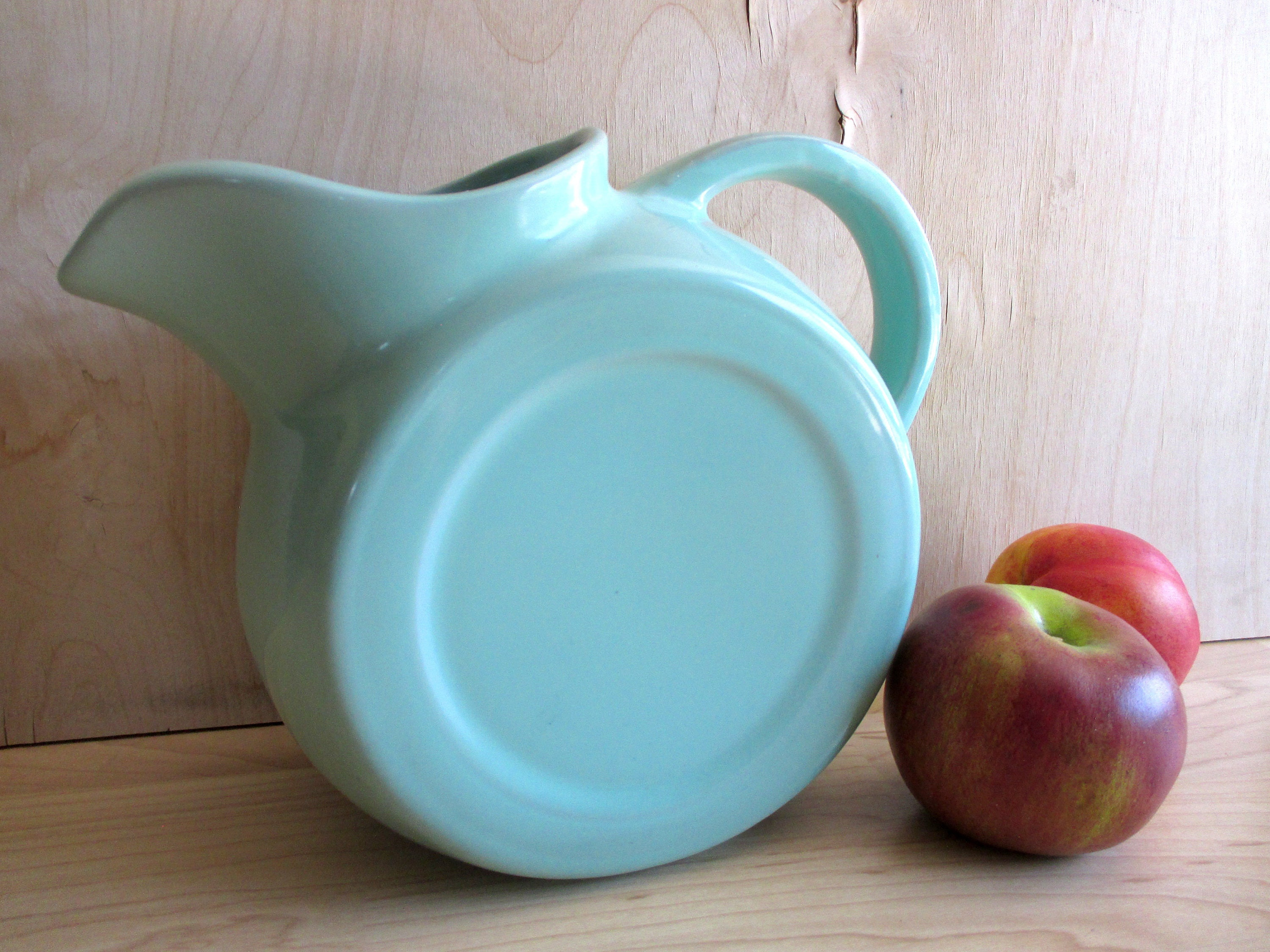 Vintage Chefsware Pitcher, Turquoise Blue USA Pottery, Country ...