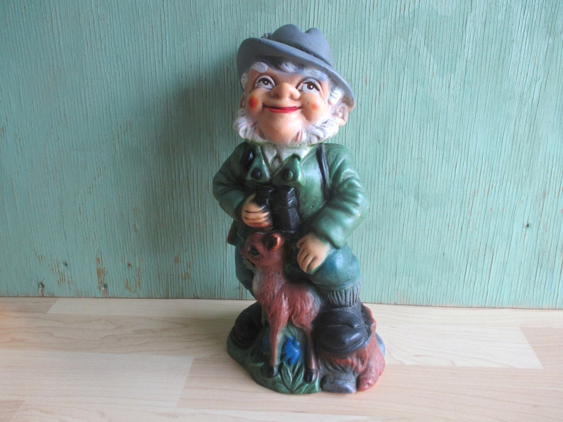 Vintage Garden Gnome 1960s Collectible Yard Ornament from image 0