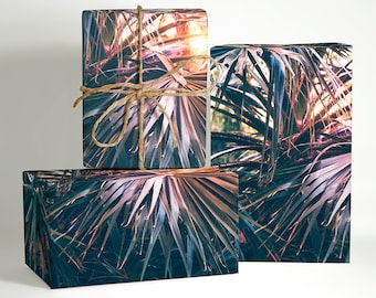 Sunset Palm Tree Wrapping Paper; Boho Gift Wrapping; Boho Wrapping Paper; Gift Wrapping; Palm Tree Gift Wrapping; Christmas Wrapping Paper