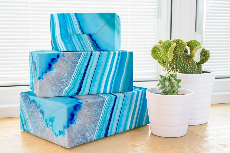 Geode Wrapping Paper Crystal Wrapping Paper Wedding Gift Etsy