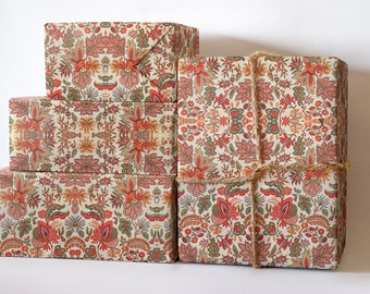 18th Century Wrapping Paper; Vintage Gift Wrapping; Christmas Wrapping Paper; Gift Wrapping; Textile Gift Wrapping; Textile Wrapping Paper