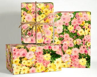 Pink Summer Floral Wrapping Paper; Gift Wrapping; summer wrapping paper; wedding flower gift wrap; Wedding Wrapping Paper; wedding gift wrap