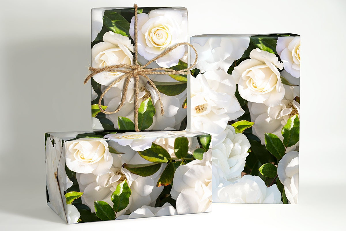 rose wrapping paper white rose wrapping paper rose wedding. Black Bedroom Furniture Sets. Home Design Ideas