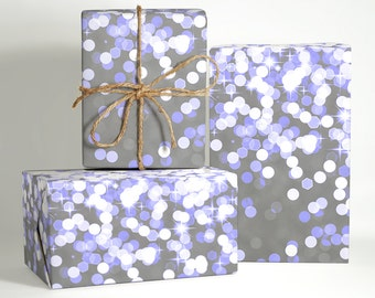 Bokeh and Stars Wrapping Paper; Wedding Gift Wrapping; Christmas Wrapping Paper; Gift Wrapping; Bokeh Gift Wrapping; Wedding Wrapping Paper