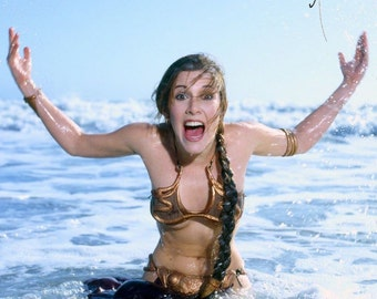 Princess Leia Carrie Fisher beach quality 300gsm 13x19 rare print