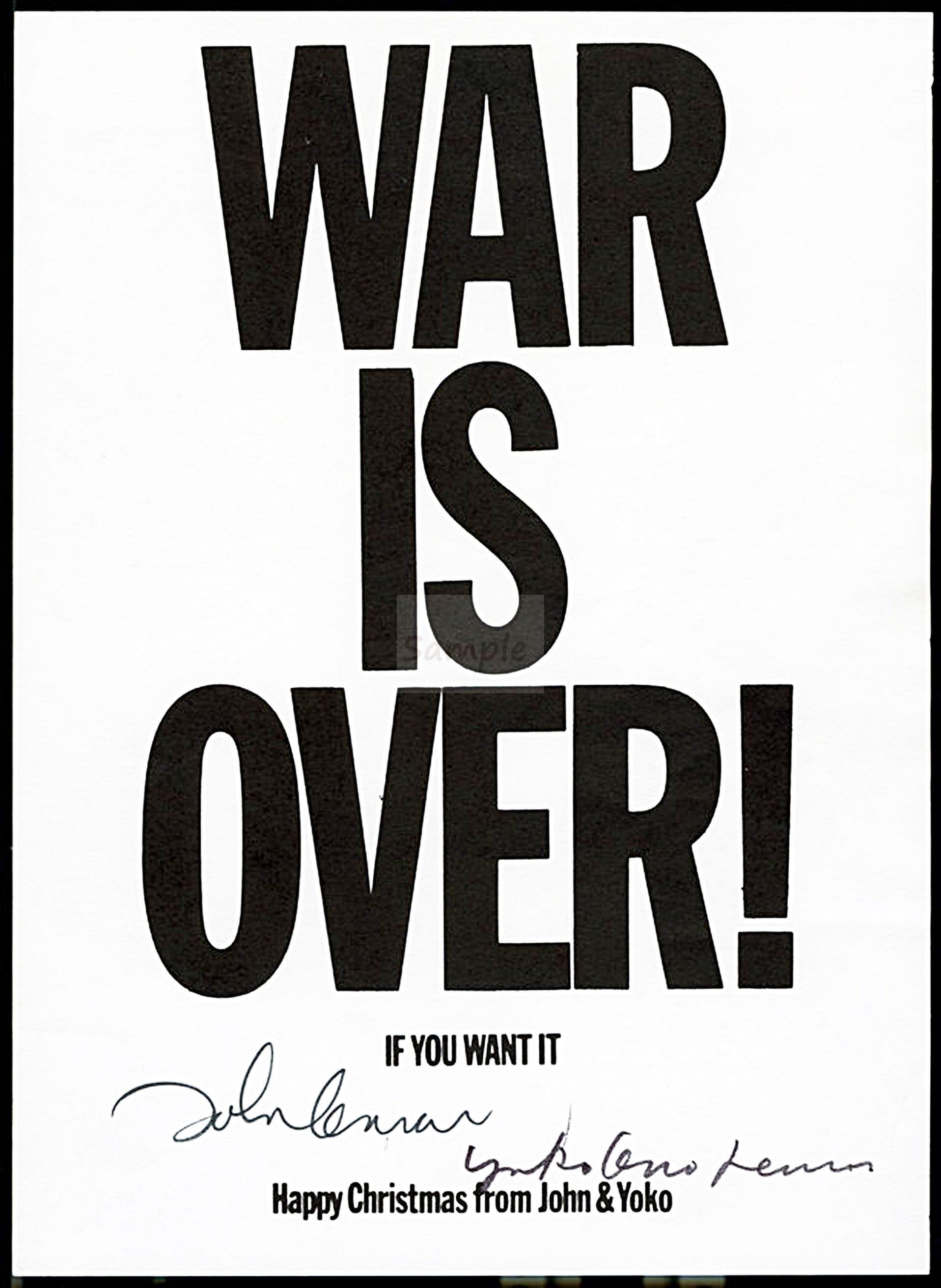 John Lennon & Yoko Ono WAR IS OVER 1969 signed   Etsy