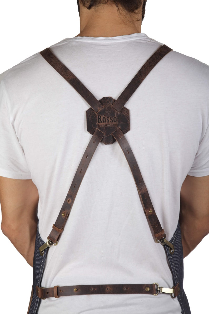 Barber apron high quality leather personalized with your ZRtAmrmK