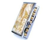 Vitamin box - pill organizer box - pill holder - gold wedding favor - womens travel gift - 7 day pill case - pill container - metal pill box