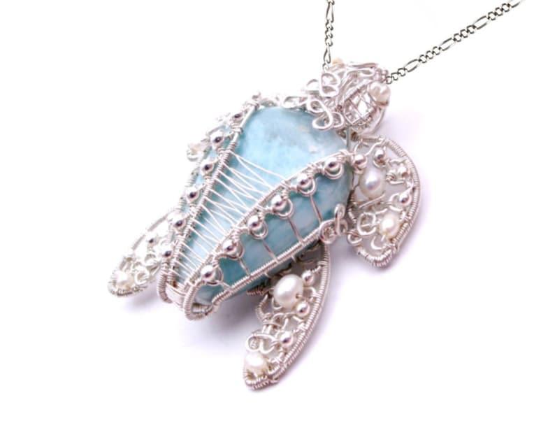 Sterling Silver Pendant Birthstone Pendant Handmade Pendant Gemstone Pendant Larimar Pendant- Healing Pendant Pendant For Women