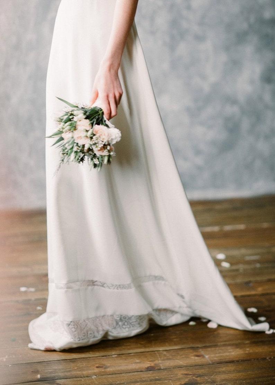 BOHO wedding dress simple lace wedding dress with open back LDja7vma
